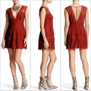 Free People One Million Lovers Lace Mini Dress 12
